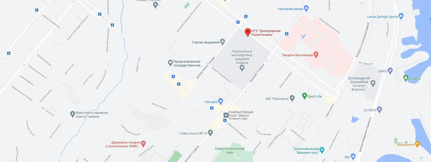 адреса на карті